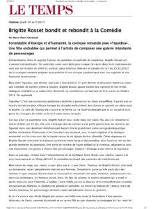 LE_TEMPS_Brigitte Rosset bondit et rebondit à la Comédie - LeTemps-1