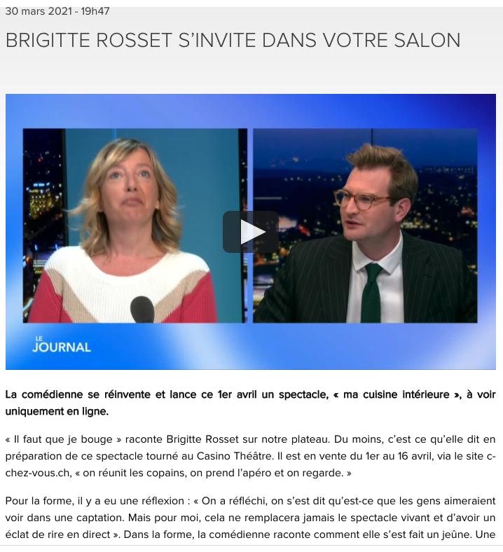 LEMAN BLEU BRIGITTE ROSSET